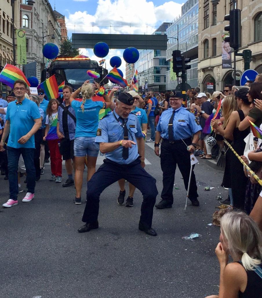 Wer sagt denn, dass die Polizei nicht tanzen kann © Sandra Grüning