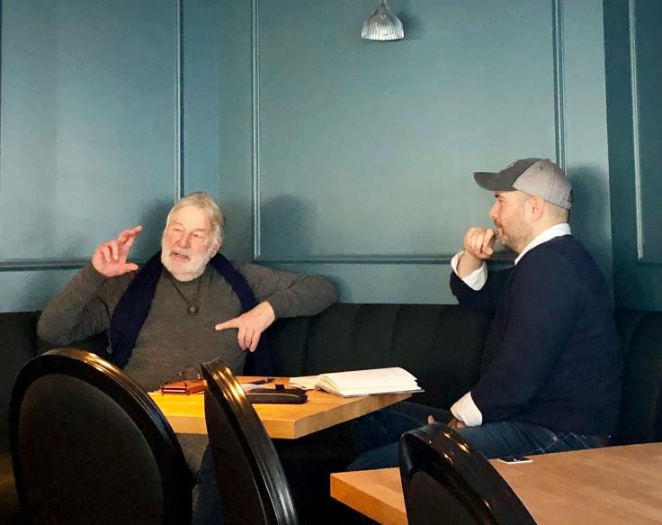 Kapitän Stefan (links) & Stefan im Gespräch © Sandra Grüning