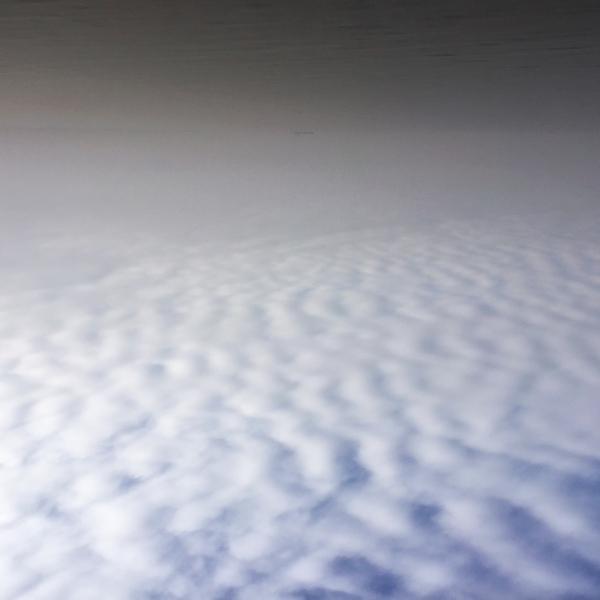 Wolken über Kopf